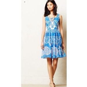 Tracy By Plenty Reese Blue Azure Lace Dress